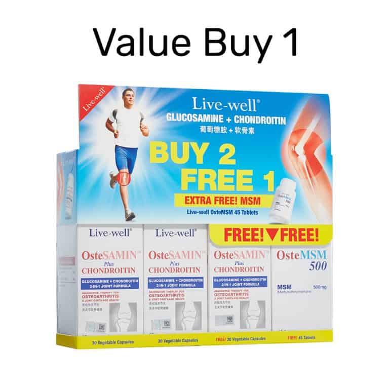 30s Buy 2 Free 1 + Free OsteMSM 45s