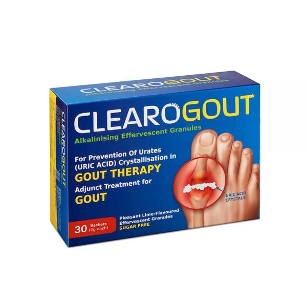 clearogout - adjunct treatment for gout